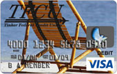 TFCU Visa reloadable card with beach chard and ocean view