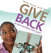 How much will TFCU Give Back to to our members this year?