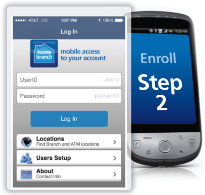 Tinker Federal Credit Union Mobile Homepage Screenshot