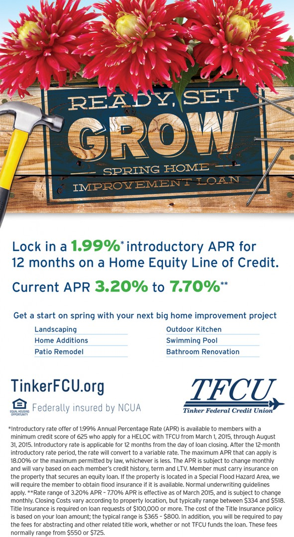 ready  set  grow with a spring home improvement loan