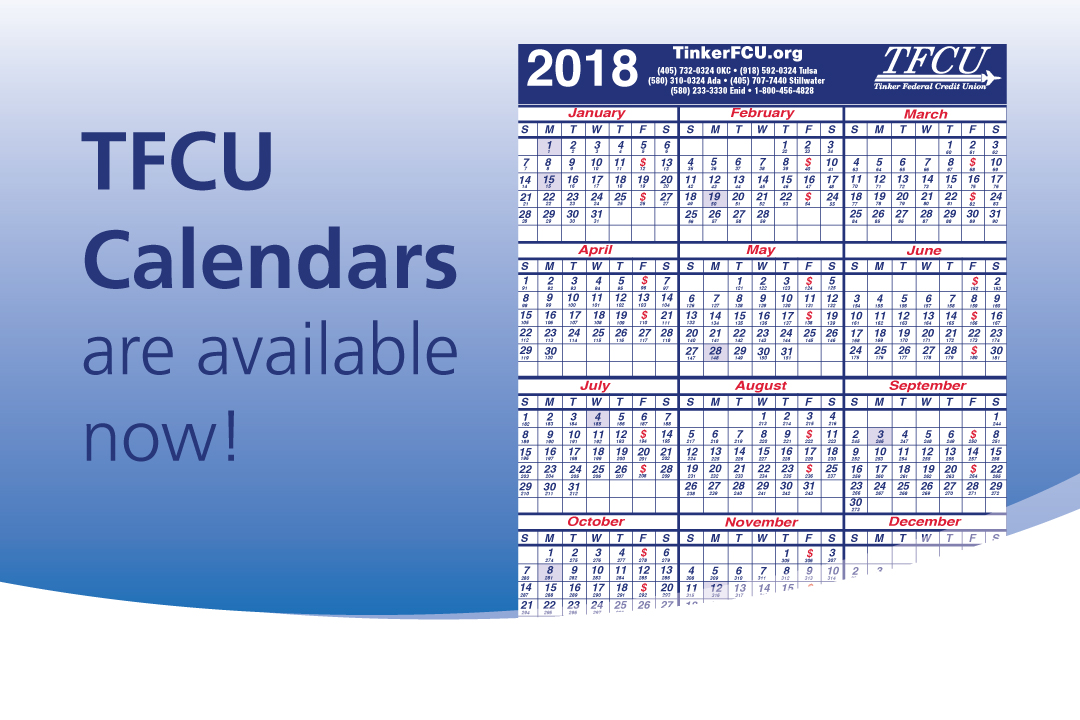 TFCU Calendars are available now!