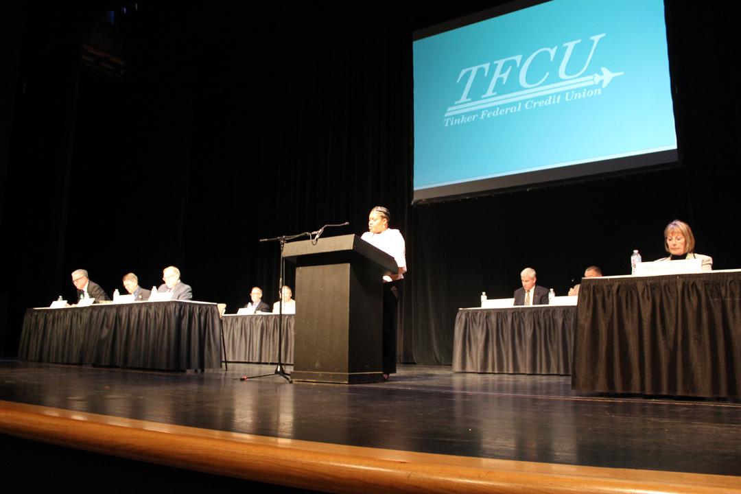 2018 volunteer board presents at TFCU annual meeting