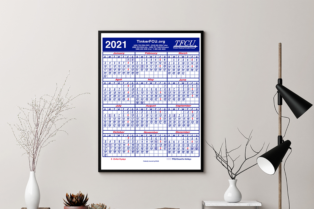 Cu Calendar 2021 TFCU 2020 Calendars Available Now | Oklahoma | Tinker Federal