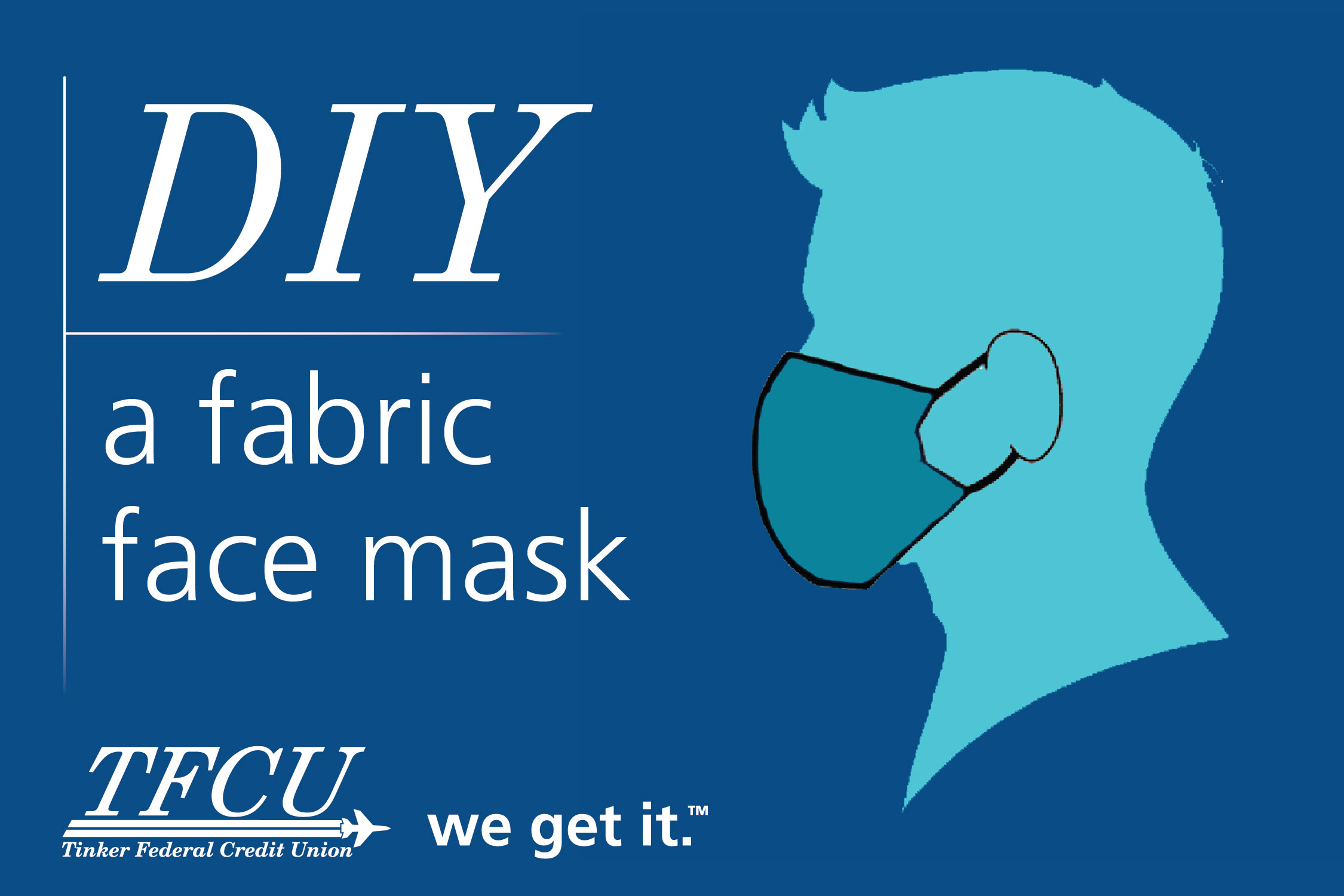 DIY a fabric face mask