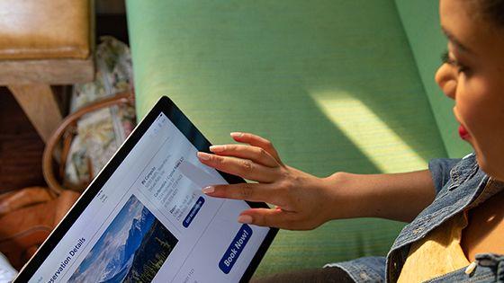 Girl using an ipad