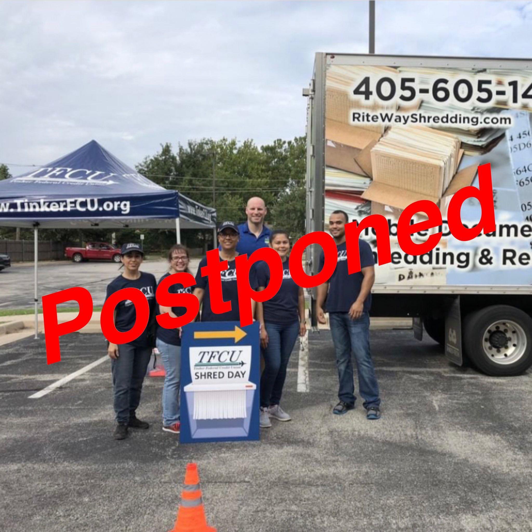 Northeast branch shred day postponed