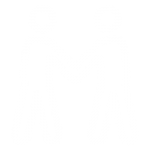 Icon of two people shaking hands representing no competition