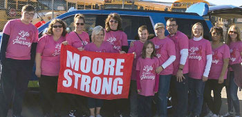 Group of volunteers and staff from TFCU supporting the Moore Oklahoma community