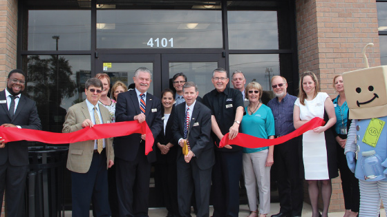 TFCU Staff and Board Members opening a new branch of Tinker Federal Credit Union