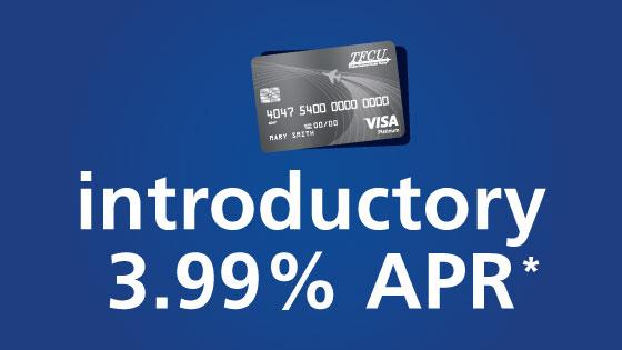 TFCU Platinum Cradeit Card introductory offer