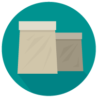 Sack Lunch color icon