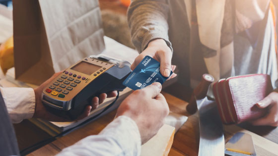 Making a purchase in a store with a TFCU credit card