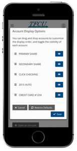 Home Branch 2019 sort options from mobile device