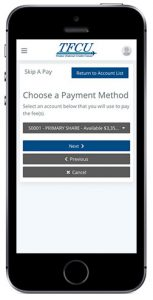 Home Branch 2019 Skip Pay Step 2 on mobile