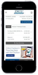 Home branch 2019 account view on mobile