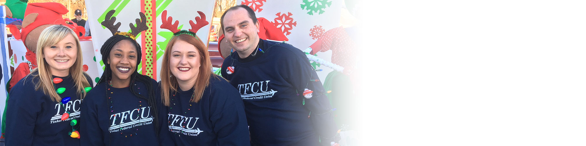 TFCU Employees having fun at an event