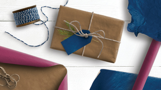Gifts, gift wrapping and strings