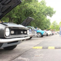 Row of classic cars at the 2019 TFCU Miracle Car Show