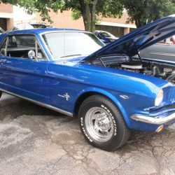 Blue mustang at the 2019 TFCU Miracle Car Show