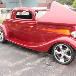 Classic custom red car at the 2019 TFCU Miracle Car Show