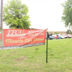 Sign at the at the 2019 TFCU Miracle Car Show
