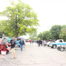 Rows of cars at the 2019 TFCU Miracle Car Show