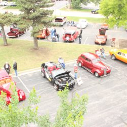 Overlooking the beautiful cars at the 2019 TFCU Miracle Car Show