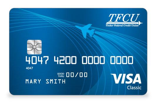 TFCU Signature Credit Card in striking bright blue