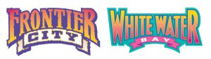 Frontier City and White Water Bay amusement parks in oklahoma city logos